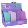 """APLI Tolltartó display, cipzáras, szilikon, APLI """"Glitter"""", vegyes színek"""