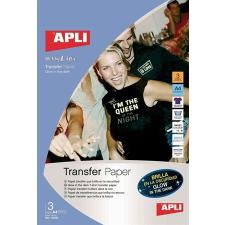 APLI Vasalható fólia, tintasugaras, sötétben világító, APLI nyomtató kellék