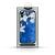 Apple 3D Virágmintás tok - Apple iPhone 12 Pro Max 2020 (6.7) szilikon tok kék