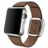 Apple Eredeti óraszíj modern csattal Apple Watch 38mm készülékre - M méretben - barna