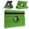Apple iPad Air 2, bőrtok, mappa tok, elforgatható (360°) zöld