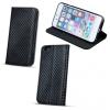 Apple iPhone 4 / 4S, Oldalra nyíló tok, stand, Smart Carbon, fekete