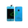 Apple iPhone 4S világoskék keretes LCD kijelző érintővel és hátlappal