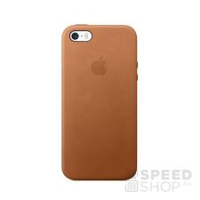 Apple iPhone 5/5S/SE gyári bőr hátlap tok, vörösesbarna, MNYW2 tok és táska