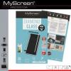 Apple iPhone 6 / 6S, Kijelzővédő fólia, ütésálló fólia (az íves részre is!), MyScreen Protector, Diamond Glass (Edzett gyémántüveg), 3D Full Cover, fekete