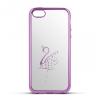 Apple iPhone 6 / 6S, TPU szilikon tok, Beeyo, hattyú minta, rózsaszín