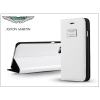 Apple iPhone 6 Plus/6S Plus valódi bőr flipes tok - Aston Martin Racing Folio Book Case - white