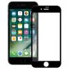 Apple iPhone 7 / 8, Kijelzővédő fólia, ütésálló fólia (az íves részre is!), Tempered Glass (edzett üveg), fekete