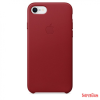 Apple iPhone 8 / 7 bőr hátlap, Piros