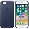 Apple iPhone 8/7 gyári bőr hátlap tok, éjkék, MQH82ZM/A