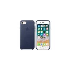 Apple iPhone 8/7 gyári bőr hátlap tok, éjkék, MQH82ZM/A tok és táska