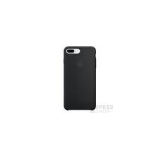 Apple iPhone 8 Plus/7 Plus gyári szilikon hátlap tok, fekete, MQGW2 tok és táska