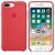Apple iPhone 8 Plus/7 Plus gyári szilikon hátlap tok, málna vörös, MRFW2ZM/A