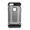 Apple iPhone 8 Plus, Műanyag hátlap védőtok, Defender, fémhatású, szürke