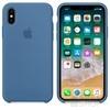 Apple iPhone X gyári szilikon hátlap tok, Denim kék, MRG22ZM/A