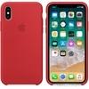 Apple iPhone X gyári szilikon hátlap tok, piros (PRODUCT)RED, MQT52ZM/A