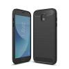Apple Samsung J330 Galaxy J3 (2017) Carbon vékony szilikon tok fekete