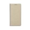 Apple Smart magnet Apple iPhone 5G/5S/5SE oldalra nyíló mágneses könyv tok szilikon belsővel arany