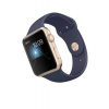 Apple Watch 42mm Gold Alu Case with Midnight Blue Sport Band  MQ122ZD/A