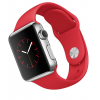 Apple Watch Aluminium Case Silver 38mm - Red Sport Band