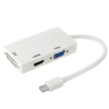 AppleKing Csökkentés / adapter 3in1 Mini DisplayPort (Thunderbolt) HDMI / VGA / DVI - fehér