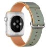 AppleKing Fonott nylon csuklópánt - Apple Watch 42mm - aranyé-kék