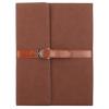 AppleKing Luxus borító PU bőrből csattal Apple iPad 4 / 3 / 2 - barna