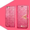 AppleKing Nyitható tok gyémánt csillogással és mágnesess szíjjal iPhone 6S / 6 készülékhez - sötét rózsaszín