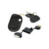 AppleKing Szinkronizáló és töltő 30pin kábel kulcsra - iPhone / iPad / iPod - 2m - fekete