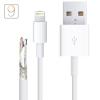 AppleKing Szinkronizáló- és töltőkábel Lightning - iPhone / iPad / iPod - 1m - fehér - TOP minőségi