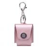 AppleKing Védő tok Apple AirPods műbőrből karabinnal - rózsazsín