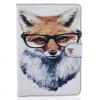 AppleKing Védő tok / borító állvánnyal Apple iPad mini 3 / 2 / 1 - róka szemüvegben