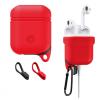 AppleKing Vízálló és porálló szilikon védőtok Apple AirPods készülékhez - piros