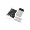 Aquacomputer kryoM.2 PCIe 3.0 x4 adapter M.2 NGFF PCIe SSD, M-Key nikkelezet + water block /53228/