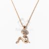 Arany bevonatos bikinis lány medálos nyaklánc jwr-1419