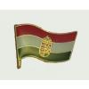 Arany színű magyar zászló címerrel 18 mm jelvény