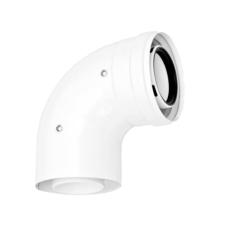 Ariston koncentrikus könyök 90° idom PPs/alu 60/100mm hűtés, fűtés szerelvény