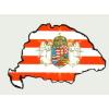 Árpádsávos angyalos hűtőmágnes Nagy-Magyarország körvonallal 8x5 cm