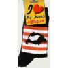 Árpádsávos fekete zokni 40-44