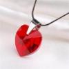 ART CRYSTELLA Nyaklánc, szív formájú, light siam piros SWAROVSKI® kristállyal, 18mm ART CRYSTELLA®