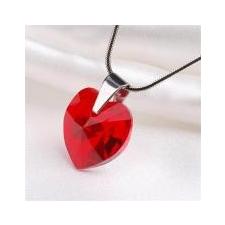 ART CRYSTELLA Nyaklánc, szív formájú, light siam piros SWAROVSKI® kristállyal, 18mm ART CRYSTELLA® nyaklánc