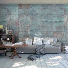 Artgeist Fotótapéta - Turquoise Concrete tapéta, díszléc és más dekoráció