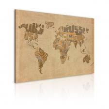 Artgeist Kép - Régi térkép a világ tapéta, díszléc és más dekoráció