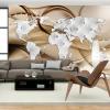 ArtGeist sp. z o o. Fotótapéta - World Map - White & Diamonds