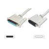 ASM ASSMANN LPT Extension cable DSUB25 M (plug)/DSUB25 F (jack) 10m beige