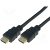 Assmann HDMI High Speed Ethernet kábel V1.4 3D GOLD A M/M 3.0m kábel