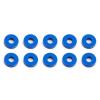 Associated Bulkhead podložky, 7.8x2.0mm, modré alu, 10 ks.