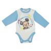 Asti Disney Mickey hosszú ujjú baba body fehér-kék 68