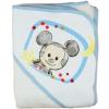 """Asti Disney Mickey """"rajzos"""" kapucnis frottír törölköző 100x100 cm fehér/v.kék"""