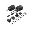 Astrum CH400 univerzális utazó hálózati töltő 4 féle dugvilla, 11 féle töltőfej 5V 2.1A
